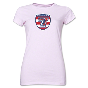 USA Sevens Rugby Junior Women's T-Shirt (Pink)