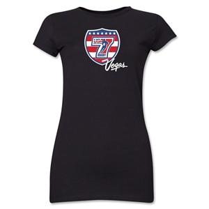 USA Sevens Vegas Rugby Junior Women's T-Shirt (Black)