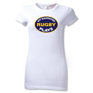 My Daughter Plays Junior Women's T-Shirt (White)