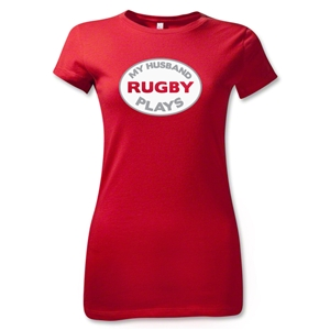My Husband Plays Junior Women's T-Shirt (Red)