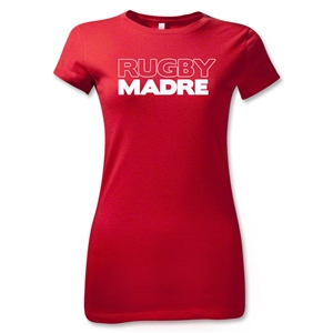 Rugby Madre 2 Junior Womens T-Shirt (Red)