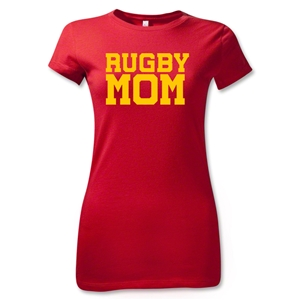 Rugby Mom Junior Women's T-Shirt (Red)