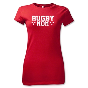 Rugby Mom 3 Junior Women's T-Shirt (Red)
