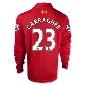 Liverpool 12/13 CARRAGHER LS Home Soccer Jersey