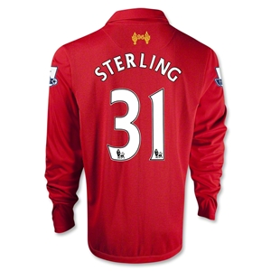 Liverpool 12/13 STERLING LS Home Soccer Jersey
