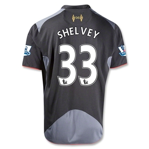 Liverpool 12/13 SHELVEY Away Soccer Jersey
