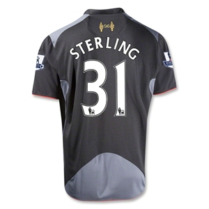 Liverpool 12/13 STERLING Away Soccer Jersey