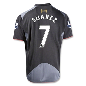 Liverpool 12/13 SUAREZ Youth Away Soccer Jersey
