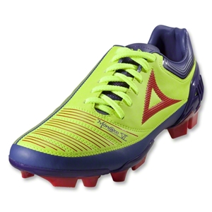 Pirma Monaco VI Soccer Shoes (Green/Lilac/Red)