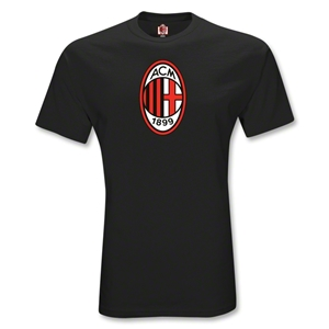 AC Milan Logo Youth T-Shirt (Black)