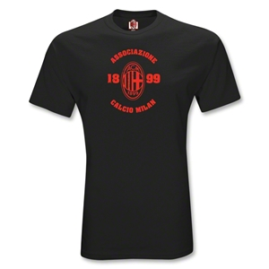 AC Milan Distressed Youth T-Shirt (Black)