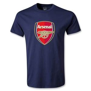 Arsenal Crest Youth T-Shirt (Navy)