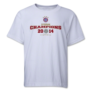 Bayern Munich 2014 Bundesliga Champions Youth T-Shirt (White)