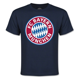 Bayern Munich Logo Youth T-Shirt (Navy)