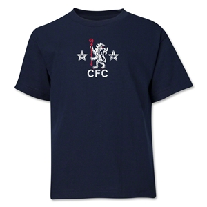Chelsea Retro Lion Youth T-Shirt (Navy)