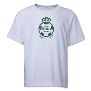 Santos Laguna Distressed Youth T-Shirt (White)