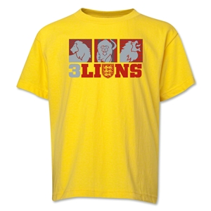 England Three Lions Geometric T-Shirt (Yellow)