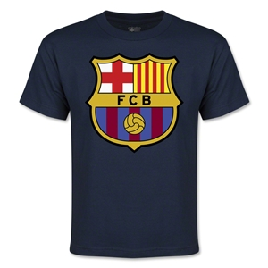Barcelona Logo Youth T-Shirt (Navy)
