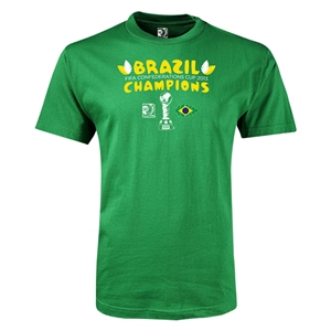 Brazil FIFA Confederations Cup 2013 Champions Youth T-Shirt (Green)