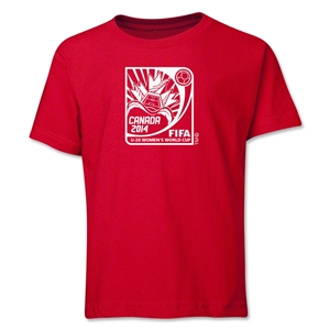 FIFA U-20 Women's World Cup Canada 2014 Youth Core T-Shirt (Red)