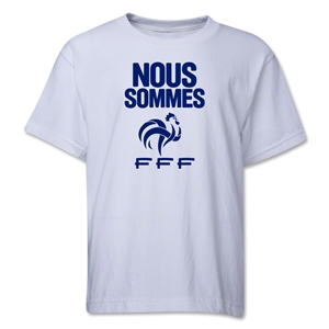 France Nous Sommes Youth T-Shirt (White