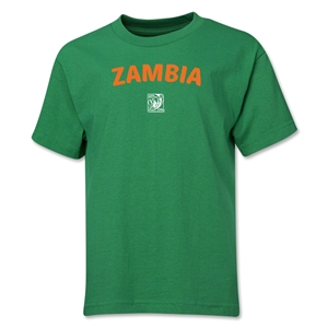 Zambia FIFA U-17 Women's World Cup Costa Rica 2014 Youth Core T-Shirt (Green)