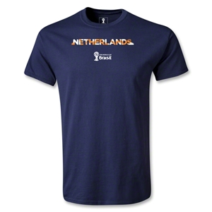 Netherlands 2014 FIFA World Cup Brazil(TM) Youth Palm T-Shirt (Navy)