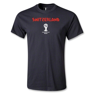 Switzerland 2014 FIFA World Cup Brazil(TM) Youth Palm T-Shirt (Black)