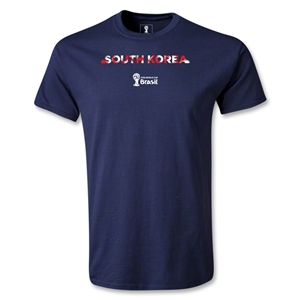 South Korea 2014 FIFA World Cup Brazil(TM) Youth Palm T-Shirt (Navy)