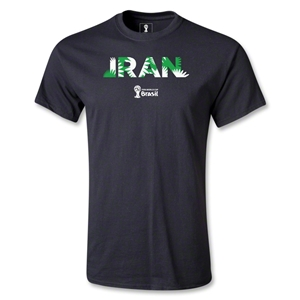 Iran 2014 FIFA World Cup Brazil(TM) Youth Palm T-Shirt (Black)