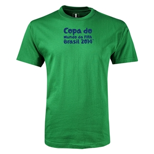 2014 FIFA World Cup Brazil(TM) Youth Portugese Logotype T-Shirt (Green)
