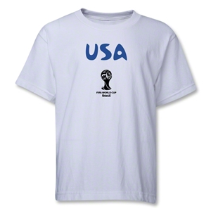 USA 2014 FIFA World Cup Brazil(TM) Youth Core T-Shirt (White)