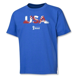 USA 2014 FIFA World Cup Brazil(TM) Youth Palm T-Shirt (Royal)