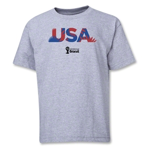 USA 2014 FIFA World Cup Brazil(TM) Youth Palm T-Shirt (Grey)