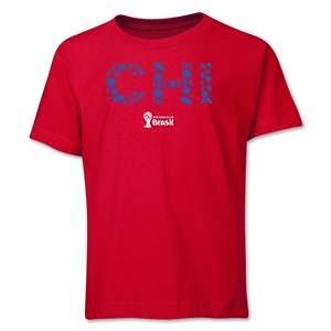 Chile 2014 FIFA World Cup Brazil(TM) Youth Elements T-Shirt (Red)