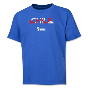 Chile 2014 FIFA World Cup Brazil(TM) Youth Palm T-Shirt (Royal)
