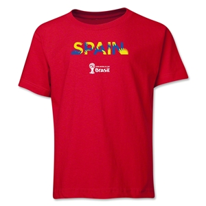Spain 2014 FIFA World Cup Brazil(TM) Youth Palm T-Shirt (Red)