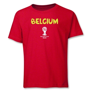 Belgium 2014 FIFA World Cup Brazil(TM) Youth Core T-Shirt (Red)