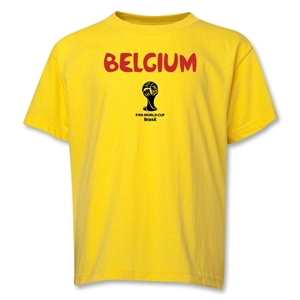 Belgium 2014 FIFA World Cup Brazil(TM) Youth Core T-Shirt (Yellow)