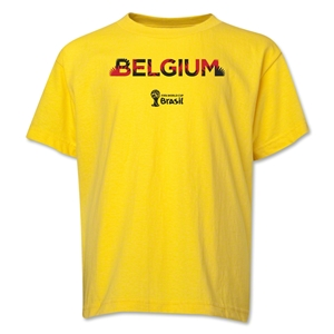 Belgium 2014 FIFA World Cup Brazil(TM) Youth Palm T-Shirt (Yellow)