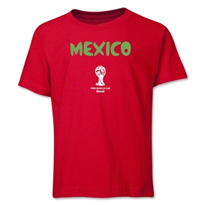 Mexico 2014 FIFA World Cup Brazil(TM) Youth Core T-Shirt (Red)