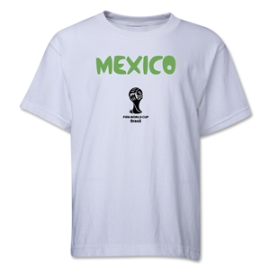 Mexico 2014 FIFA World Cup Brazil(TM) Youth Core T-Shirt (White)