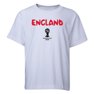 England 2014 FIFA World Cup Brazil(TM) Youth Core T-Shirt (White)