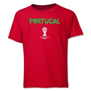 Portugal 2014 FIFA World Cup Brazil(TM) Youth Core T-Shirt (Red)