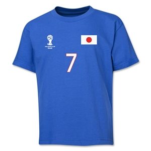 Japan 2014 FIFA World Cup Brazil(TM) Youth Number 7 T-Shirt (Royal)