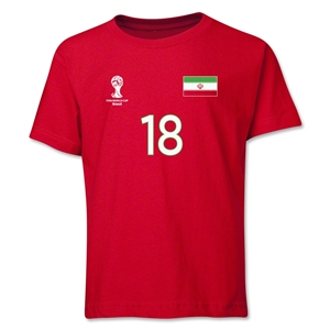 Iran 2014 FIFA World Cup Brazil(TM) Youth Number 18 T-Shirt (Red)