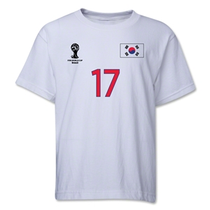 South Korea 2014 FIFA World Cup Brazil(TM) Youth Number 17 T-Shirt (White)