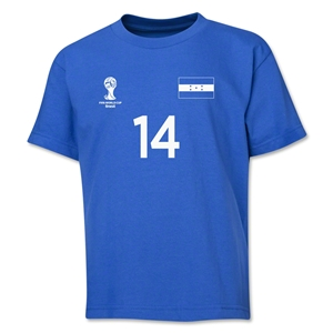 Honduras 2014 FIFA World Cup Brazil(TM) Youth Number 14 T-Shirt (Royal)