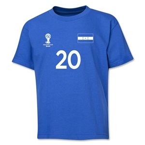 Honduras 2014 FIFA World Cup Brazil(TM) Youth Number 20 T-Shirt (Royal)