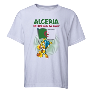 Algeria 2014 FIFA World Cup Brazil(TM) Youth Mascot Flag T-Shirt (White)